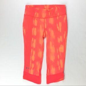 Under Armour neon coral orange capri leggings M